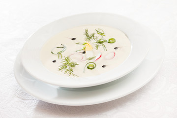 cold soup with cucumber