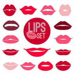 Lips set. design element.