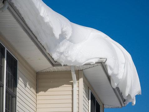 Snow drift on roof