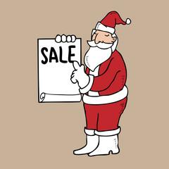 Santa holding blank sheet