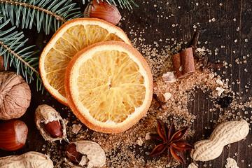 Sweetened Christmas Orange with Nuts