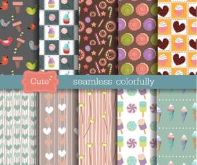 cute seamless patterns set 2