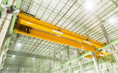 Foto op Plexiglas Stadion Factory overhead crane installation on rail