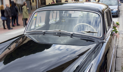 elegant old black car season coherent