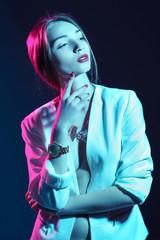 beautiful sexy girl in studio,