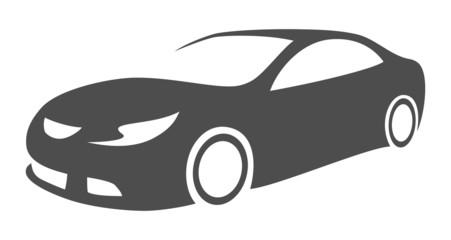 silhouette modern car
