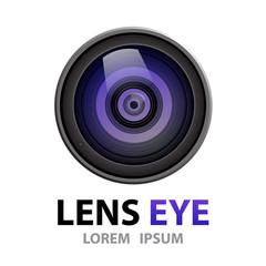 Lens eye symbol icon. vector illustration