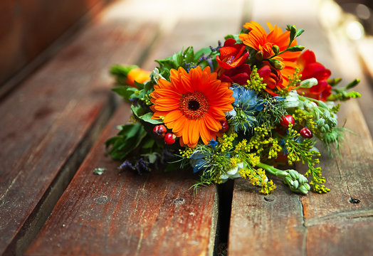 bridal colorful  bouquet