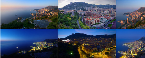 collection of photos Monte Carlo Monaco day and night