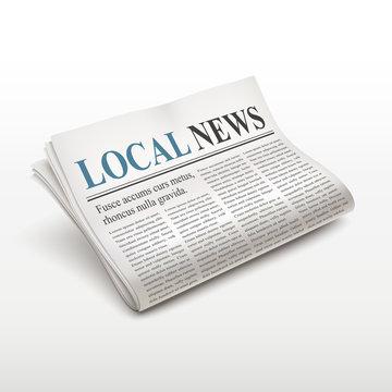 local news words on newspaper