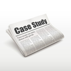 case study words on newspaper