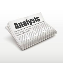 analysis word on newspaper