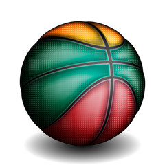 Lithuanians basket ball, vector