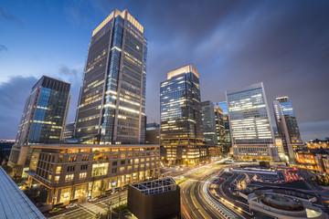 Tokyo, Japan at Marunouchi Business District