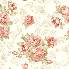 Printed roller blinds Vintage Flowers flowers seamless pattern background - For easy making seamless p