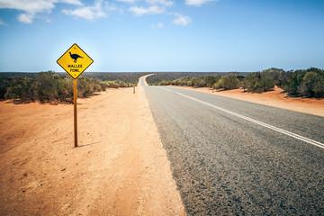 Australia road sign Mallee Fowl