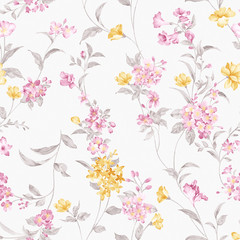 Door stickers Vintage Flowers flowers seamless pattern background - For easy making seamless p