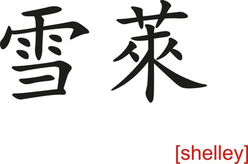Chinese Sign for shelley