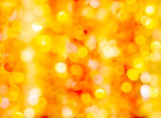 Festive orange and yellow bokeh