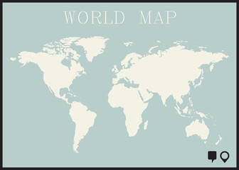 Wall Murals Retro sign infographic worl map