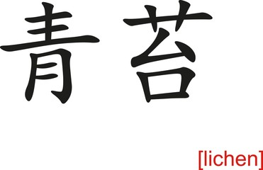 Chinese Sign for lichen