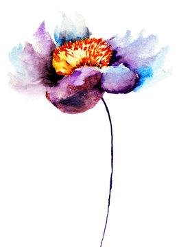 Decorative blue flower