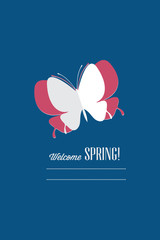 Vector illustration with butterfly and