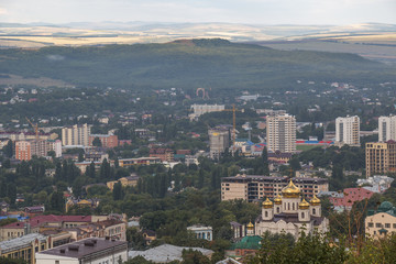 Townscape Pyatigorsk (Russia) from the mountain Mashuk