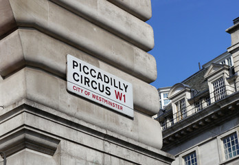 picadilly circus sign, london