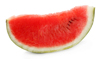 Fresh slice of watermelon, isolated on white