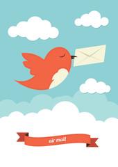 Bird with envelope