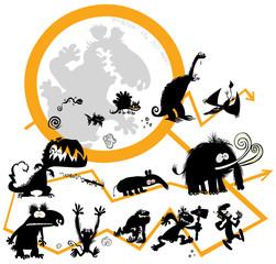 Funny Evolution scale.