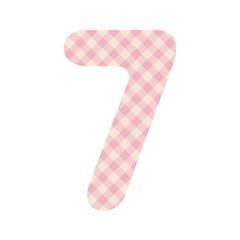 Pink squares pattern number seven