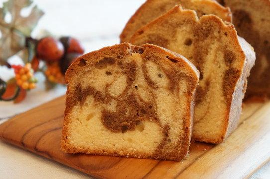 Coffee Marble Pound Cake