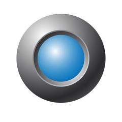 Blue button. Vector illustration