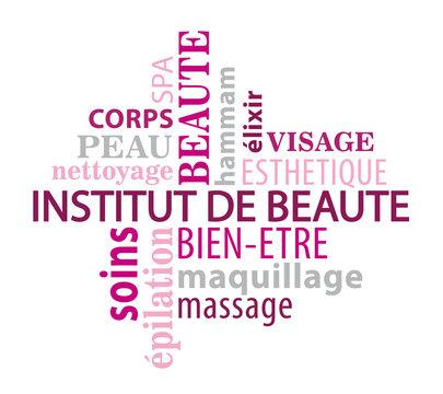 Nuage de mot thème institut de beauté