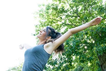 beautiful happy girl on camaldoli park
