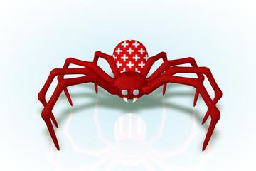 Band Aide the Switzerland Spider