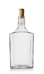 Empty bottle of cognac with cork