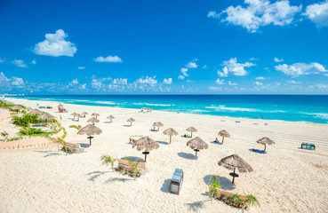 Canvas Prints Mexico Cancun beach panorama, Mexico