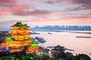 nanchang tengwang pavilion in sunset Wall mural