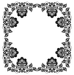 black and white vintage frame