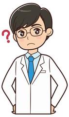 疑問を持つドクター