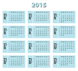 2015 blue spanish calendar