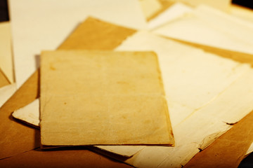 texture old vintage yellowed paper, writing papers