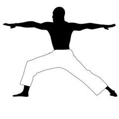 Yoga-man in black and white