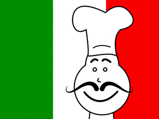 Italy Chef Represents Cooking In Kitchen And Chefs