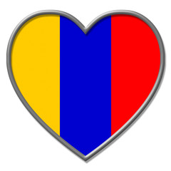 Columbia Heart Means Valentine Day And Columbian