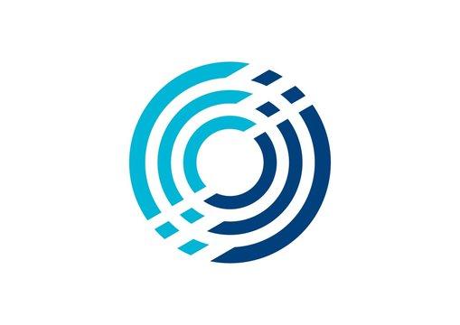circle, logo, stripe, circular, sphere, globe, geometry