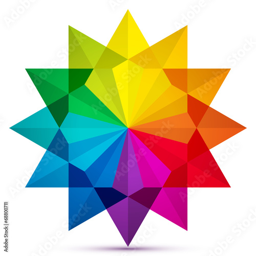 Color Wheel Icon In Star Shape Stock Image And Royalty Free Vector